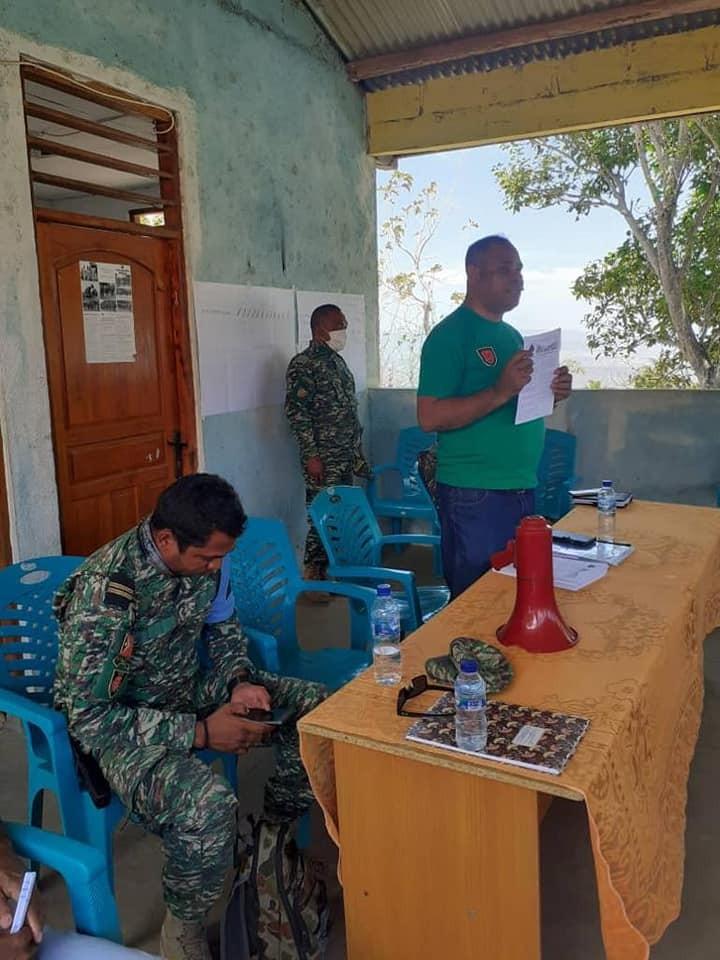 Sekretaria Estadu Juventude no Desportu hola parte iha komando F-FDTL nia ezersisiu kobra II hodi fa