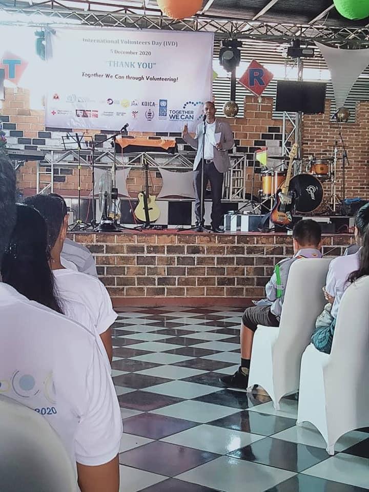 Diskursu Diretor Jeral David Tomas de Deus iha Selebrasaun Loron Internasional Voluntariu