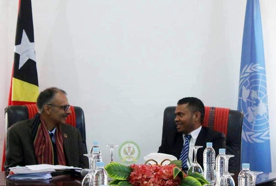 S.E Abrao Saldanaha Hasoru Malu ho Koordenador Rezidente Onu Nian Iha Timor-Leste